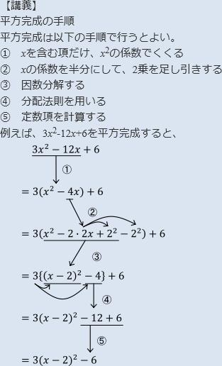 完成 平方 2次方程式の解き方~因数分解・平方完成・解の公式~